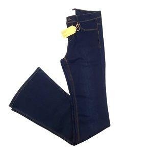 Dark Wash Long Flare Jeans {Premium Signature}